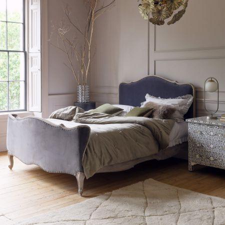 Evelyn Grey Velvet Beds