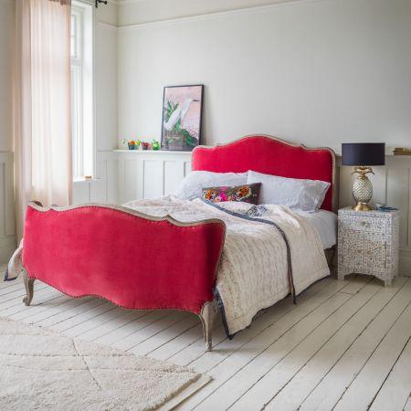 Evelyn Coral Velvet Beds