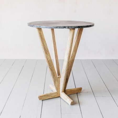 Cecil Cerused Side Table