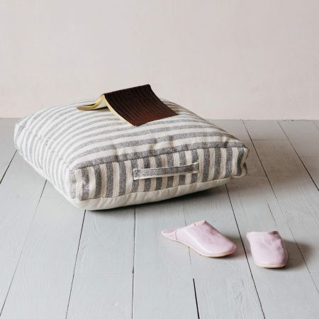 Woven Stripe Cushion with Handle