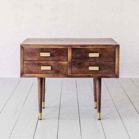 Byron Four Drawer Side Table