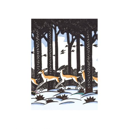 Set of Eight Deer Christmas Cards