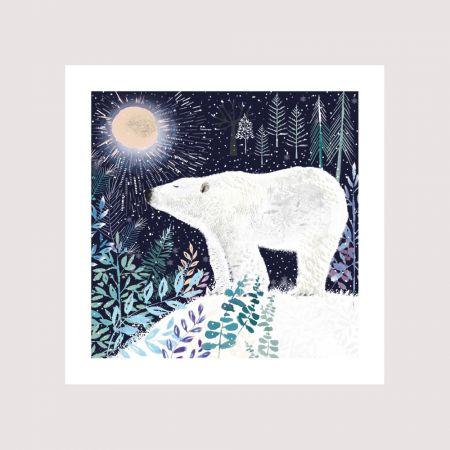 Set of Eight Polar Bear Christmas Cards