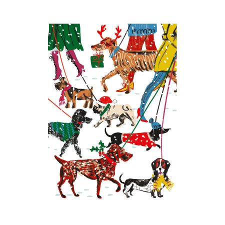 Set of Eight Winter Walkies Christmas Cards