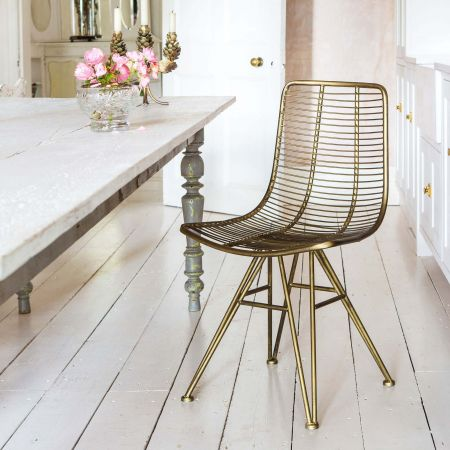 Jana Gold Metal Chair
