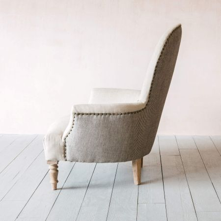 Oliver Natural Linen Armchair