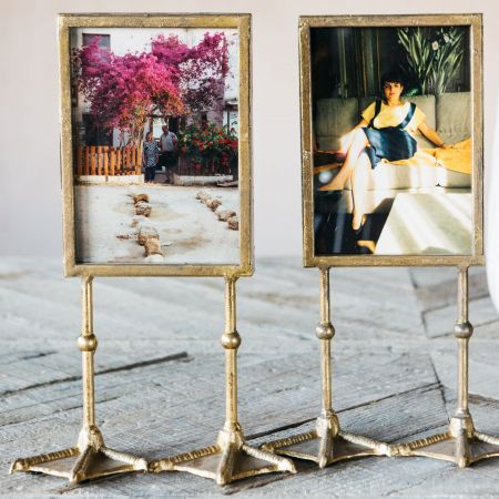 Set of Two Gold Portrait Duck Feet Frames