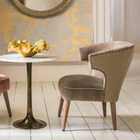 Audrey Silver Velvet Chair