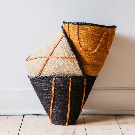 Coloured Seagrass Baskets