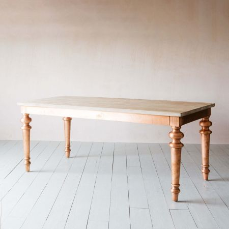 Dining Table with Copper Legs