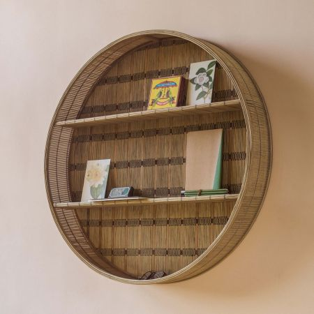 Large Round Bamboo Shelf
