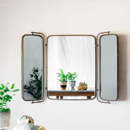 Folding Industrial Wall Mirror