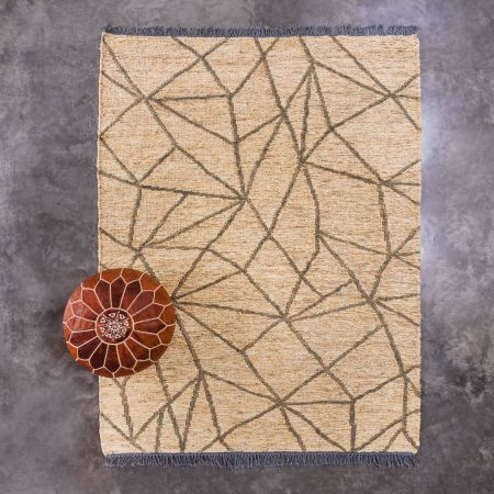 Surat Natural and Grey Rug