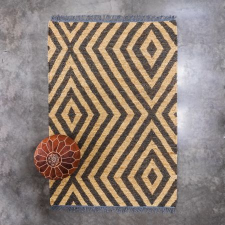 Avadi Jute Rug Natural and Black