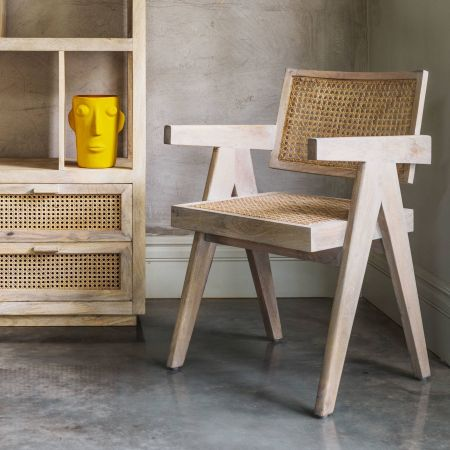 Flloyd Natural Cane Armchair