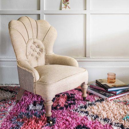 Oriana Scalloped Armchair