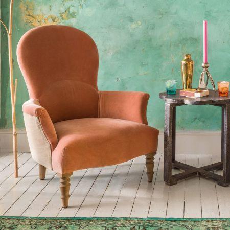 Effy Blush Velvet Armchair