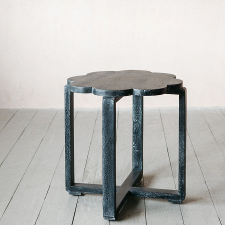 Black Scallop Side Table