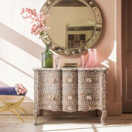 Antonia Grey Mother of Pearl Chest of Drawers