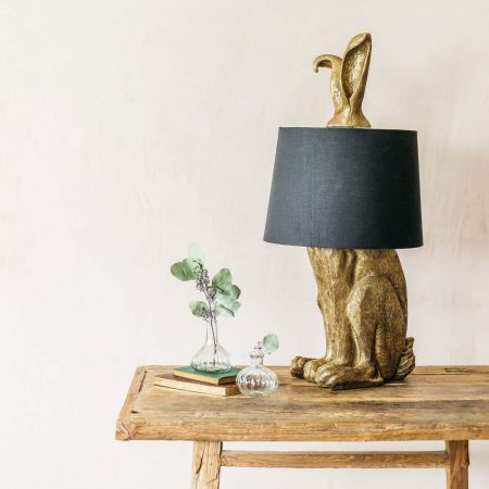 Gold Hetty Hare Table Lamp