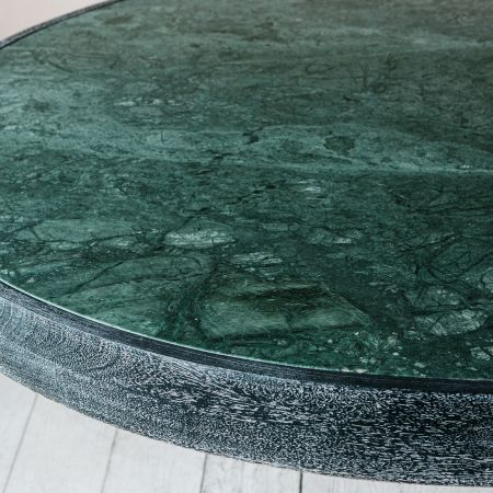 Delaney Green Marble Dining Table