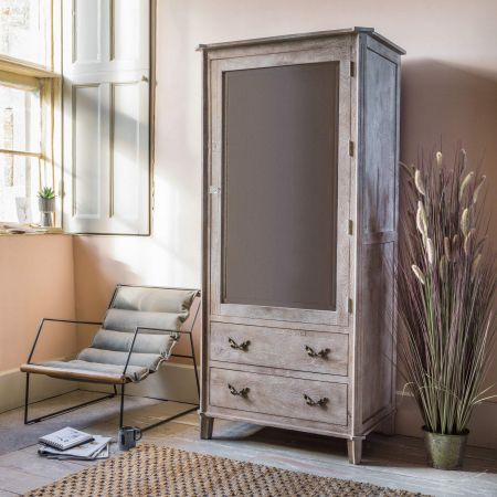 Chantilly Whitewashed Armoire