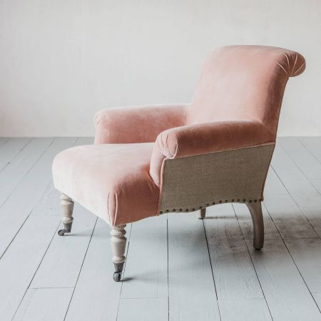 Bella Rose Velvet Armchair