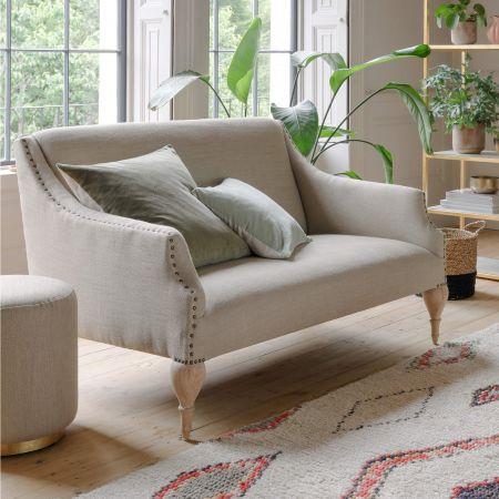 Renée Natural Linen Two Seater Sofa
