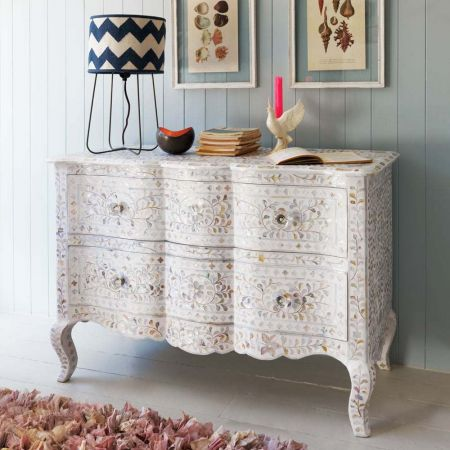 Antonia White Mother of Pearl Chest of Drawers