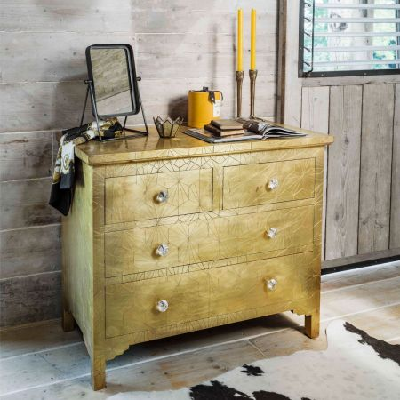 Roselle Brass Mounted Chest of Drawers - Thumbnail