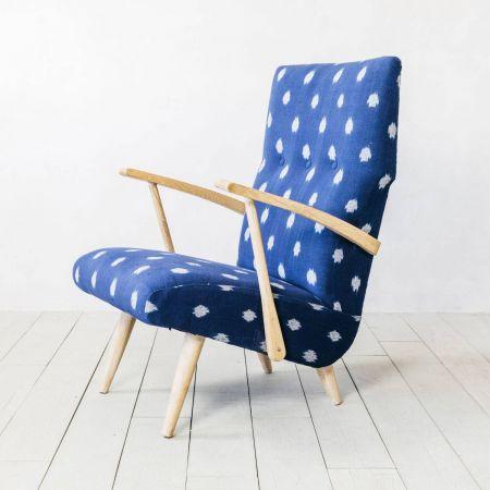 Retno Blue Ikat Armchair