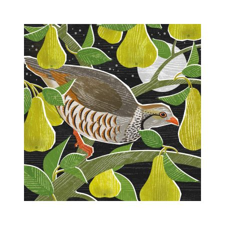 Set of Eight Partridge Christmas Cards