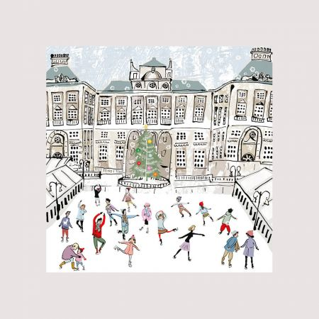 Set of Five Skating at Somerset House Christmas Cards