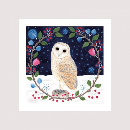 Set of Eight Owl Christmas Cards