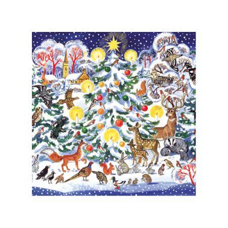 festive christmas tree cards