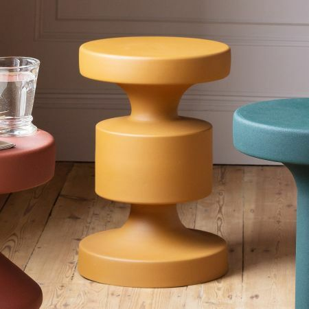 Mustard Metal Side Table