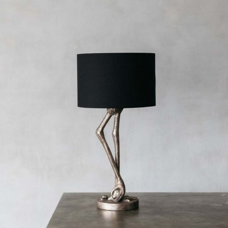 Silver Leggy Flamingo Table Lamp