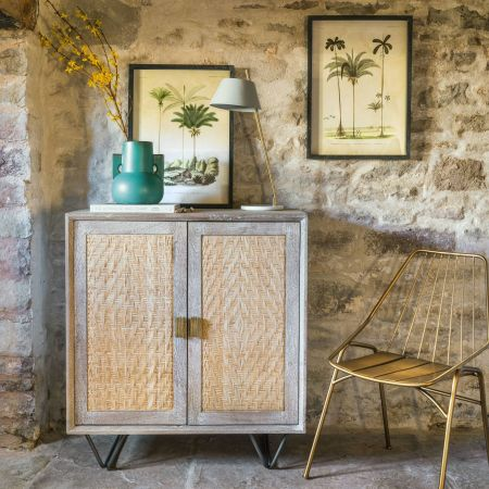Rattan Two Door Sideboard