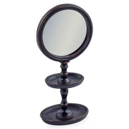 Black Framed Mirror on Stand