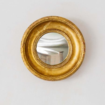 Small Gold Deep Convex Mirror