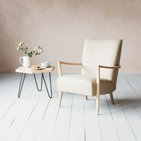 Alcee Natural Linen Armchair