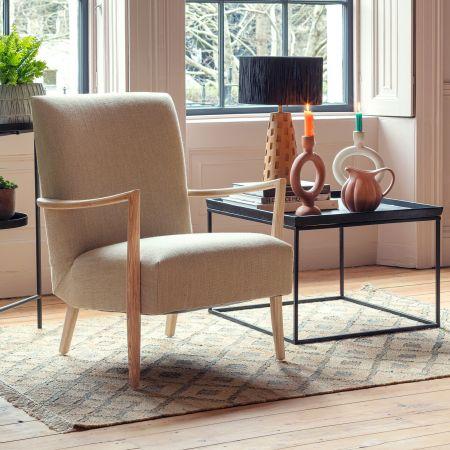 Alcee Natural Linen Armchair