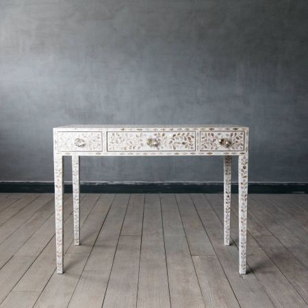 Maxi White Mother of Pearl Dressing Table