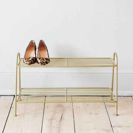 Brass Shoe Rack