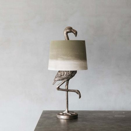 Silver Flamingo Table Lamp