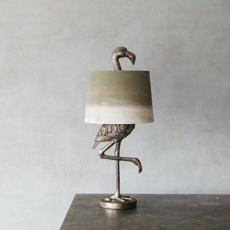 Silver Flamingo Table Lamp