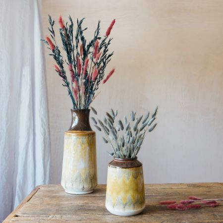 Yellow Stone Vases