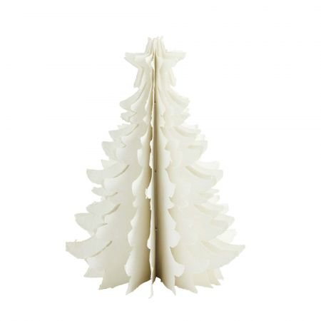 Large Ivory Paper Christmas Tree