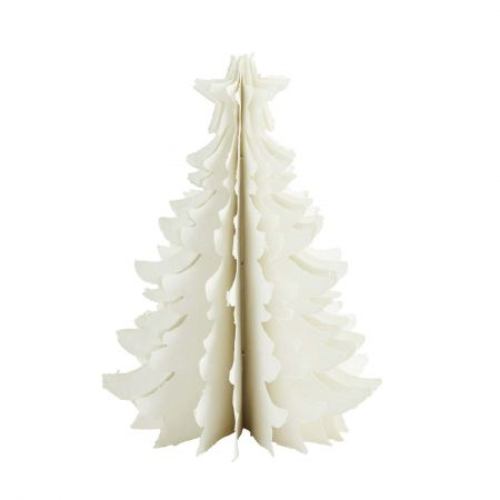 Small Ivory Paper Christmas Tree