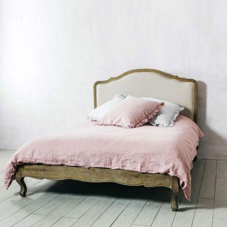Serenity Natural Linen King Size Bed - Thumbnail
